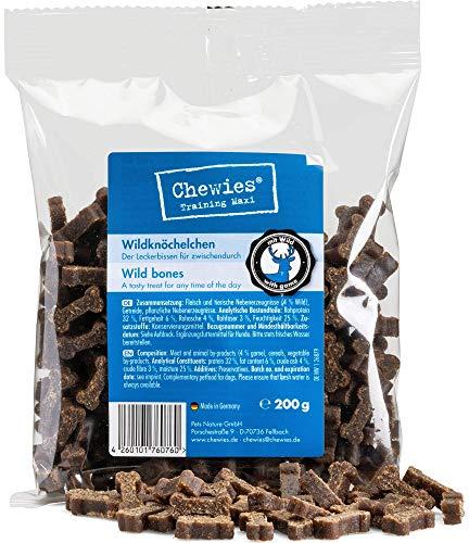 Chewies Hundeleckerli Wild Knöchelchen - 125 g - Trainingsleckerli für Hunde - Fleisch Softies ohne Zucker - Hundesnacks mit hohem Fleischanteil