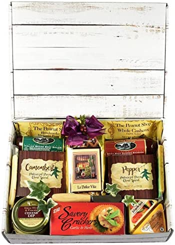 Gift Basket Village The Good Life Gourmet Care Package Gift Box with Meat Cheese Crackers Nuts product image