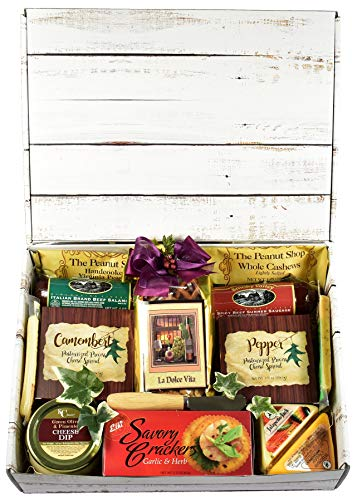Gift Basket Village The Good Life Gourmet Care Package, Gift Box with...