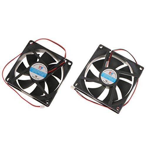 #N/A/a Ventilador de Caja de 2 Piezas 92 Mm + 80 Mm Ventilador de Enfriamiento de Interfaz de 2 Polos para PC