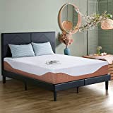 PrimaSleep 12 Inch Multi-Layered I-Gel Infused Memory Foam Queen Mattress, White and Brown