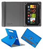 Acm Designer Rotating Leather Flip Case Compatible with Kindle Fire Hd 7 2012 2nd Gen Tablet Cover Stand Dark Blue