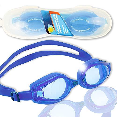 Smart-Planet® Jugend - Schwimmbrille Taucherbrille - Silikon - schwarz oder blau - UV-Schutz - Anti-Beschlag Brille für Jugendliche