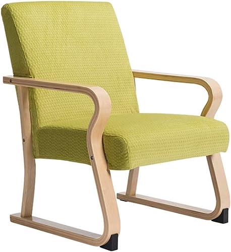 Chaise Fauteuil Siège Chaises Chair Accoudoir De Loisirs De Style Européen en Bois Massif ZHANGAIZHEN (Couleur   Vert Fluorescent)