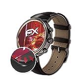 atFoliX Schutzfolie kompatibel mit Asus ZenWatch 3 WI503Q Folie, entspiegelnde & Flexible FX Bildschirmschutzfolie (3X)