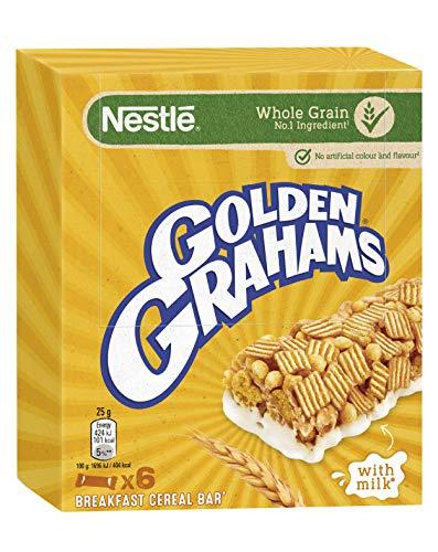 Nestlé Golden Graham Barritas de Cereales con Maíz y Trigo Tostado, 6 x 25g