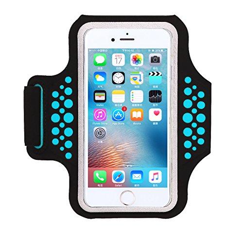 Haissky Fascia da Braccio Sportiva iPhone 7/ iPhone 8 Sweatproof Corsa Fascia da Braccio per iPhone 7/6, Galaxy S6/S5, iPhone 5/5C/5S Fino a 5.2 Pollici con ID Porta Carte di Credito Denaro
