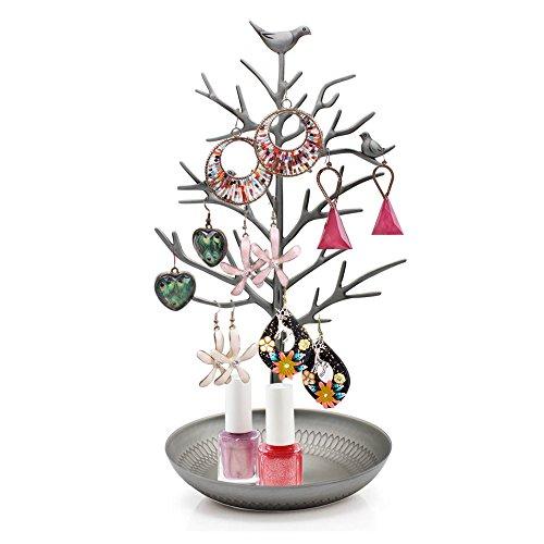 HQdeal - Colgador de joyas joyero Colgador Expositor para joyas Organizador de Joyas de árbol para Pendientes y collares anillos