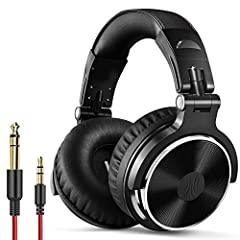 BASS SOUND: Enjoy clear sound and comfort with the OneOdio Studio monitor headphones. Large, 50 millimeter speaker unit drivers combined with neodymium magnets; powerful bass, clear vocal, and crisp high tones form stereo sound BUILT TO STAY COMFORTA...