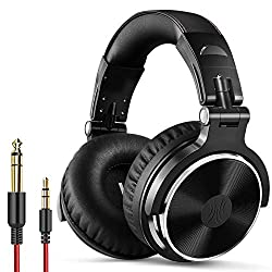 cheap On-ear headphones with One Odio cable – studio monitor and DJ mixing stereo headset…