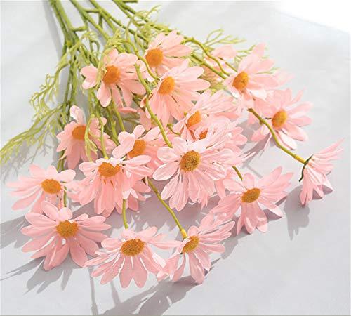 SWECOMZE10 Stücke Künstliche Gänseblümchen, Kunstblumen Plastikblumen Deko, Unechte Blumen für Vase Balkon Herbstdeko Party Büro Hochzeit (Pink)
