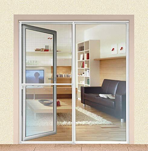 1PLUS Insektenschutz Alu Spannrahmen System Premium Schiebetür, 120 x 240 cm in verschiedenen Farben verfügbar (Anthrazit)
