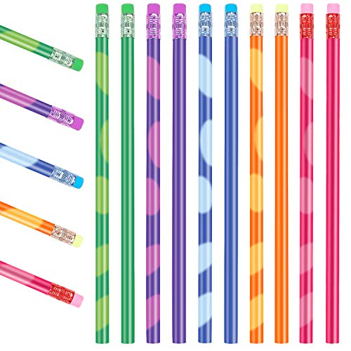Zeichnung Buntstift, 10 pcs Farbwechsel Stifte, Farbwechsel Stimmungsstift, Bleistifte für Kinder, Farbe Wechsel Stimmung Bleistift, Thermochrome Wechsel Stifte mit Radiergummi für Schüler