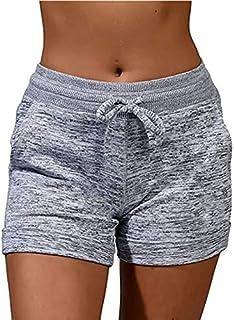 Womens Shorts Casual Athletic Shorts Workout Elastic...