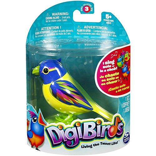 DigiBirds 88286 - Interaktiver Spielzeugvogel mit Pfeifring, ca. 7,5 x 9 cm, sortiert