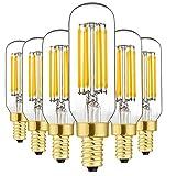 Dimmable T6 LED Bulbs, 6W E12 Edison Light Bulbs Soft...