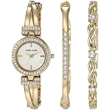 Anne Klein Women's Swarovski Crystal Accented Watch and Bracelet Set, AK/3570