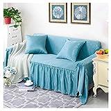 GELing Home Funda de sofá de Doble Cara, Cubre para Silla en Tejido Elástico Estampado, Funda de sofá Engrosada Protector de Sofá o Sillón ,Lago Azul,Dos Plazas