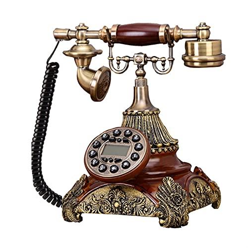 Teléfono inalámbrico Soporte de teléfono inalámbrico GSM 900 / 1800M Hz SIMULACIÓN Tarjeta Retro Teléfono fijo Teléfono inalámbrico Teléfono fijo Teléfono casero Casa de oficina Hecho de resina Línea