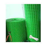 SAI PRASEEDA 12mm Iron PVC Coated Garden Fencing Net/Mesh 3 Feet Height X 10 Feet Length UV Stabilized Anti Bird Net Green Color with Free 1 Cutter,50 PVC Tags