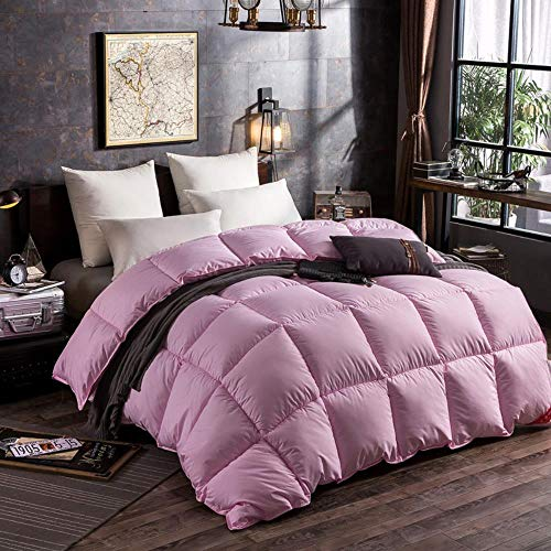 Miwaimao Duvet Thick Winter Is White Goose Down Feather Quilt Spring And Autumn Been Dormitory,Pink,200 * 230cm