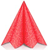 GRUBly Servietten ROT | Stoffähnlich [50 Stück] | Hochwertige rote Servietten, Tischdekoration für Weihnachten, Hochzeit, Geburtstag, Feiern | 40x40cm | AIRLAID QUALITÄT