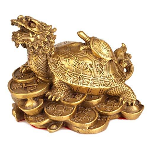 Mosiądz Smok Żółw Dekoracja Matka Smok Feng Shui Yuan Bao Wiodący Żółw Dekoracja Salonu Bestie Smok Żółw Ozdoby Lucky Home Decoration