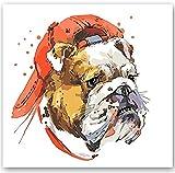 N-L Kits de Pintura por números para Adultos - Artes y Manualidades para Adultos - Pintura por números para niños - Pintura al óleo por número Animal Lindo Perro Colorido