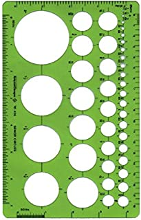 Alvin, TD435, Senior Circle Guide Template, Drawing and Drafting Tool - 42 Circles, 5 x 8 x .030 Inches