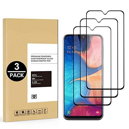 CoverLC - Pellicola proteggi schermo in vetro temperato 9H per Samsung A20E, protezione schermo in vetro temperato 9H per Samsung Galaxy A20E [facile installazione] [senza bolle] [antigraffio]