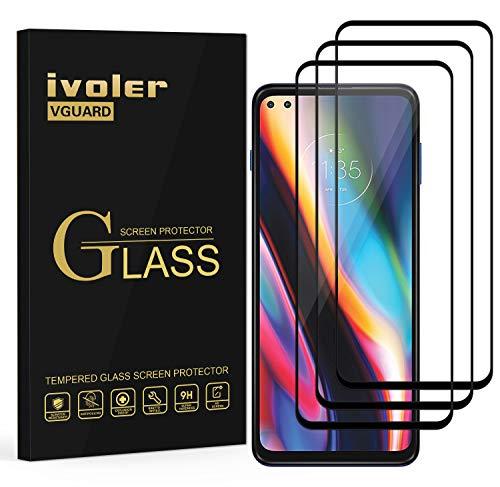 ivoler 3 Stücke Panzerglas Schutzfolie für Motorola Moto G 5G Plus, [Volle Bedeckung] Panzerglasfolie Folie Hartglas Gehärtetem Glas BildschirmPanzerglas für Motorola Moto G 5G Plus
