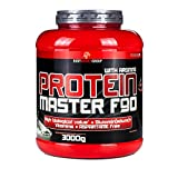 BWG Protein Master F90, Eiweißshake mit BCAA`S und Glutamin, Muskelaufbauphase, Deluxe Proteinshake Cookies & Cream, Dose mit Dosierlöffel, Muscle Line, 1er Pack (1 x 3000g)