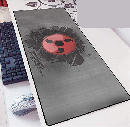 Large Mouse Pad Mat Extended Gaming Mouse Pad Naruto Keyboard Mouse Mat 900X400X3Mm Large Mousepad for Gaming Macbook PC Laptop Desk (Color : 4, Size : 900 * 400 * 3)