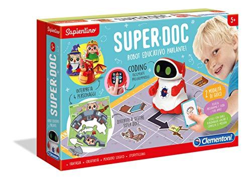 Clementoni- Sapientino-SuperDoc, Robot educativo per Bambini (Versione Italiana), Multicolore, 12094