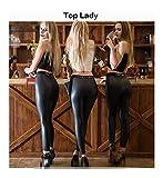 Mujeres Fiesta Club Leggings Hip Push Up Pantalones De Cuero Pantalones Imperio Grande Estiramiento Señora Sexy Delgado su Pierna Motocicleta Pantalón (Colore : Top Lady, Taglia : XXL)