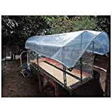 Lonas claras Lona transparente impermeable, láminas de plástico de 420 gs de trabajo pesado Cortinas laterales de balcón con ojales de aluminio que cubren el patio de techo Muebles de exterior, 17 tam
