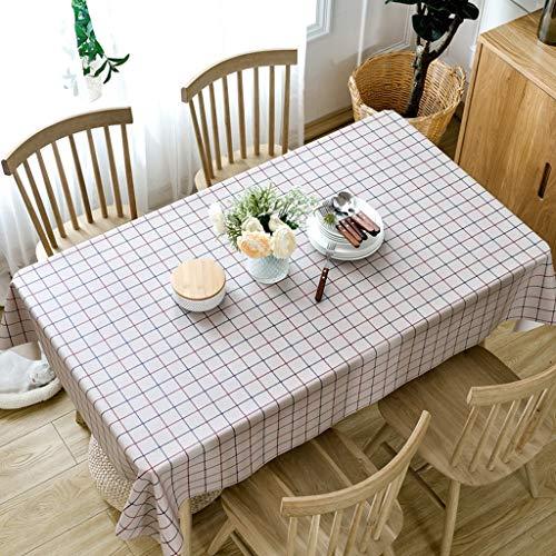 JXXDQ Imperméable Imprimé Nappe Ronde Couverture De Thé Table À Thé En Tissu Couverture Rectangulaire Tissu Décoration de La Maison (Color : Beige, Size : 90 * 150cm)