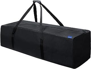 INFANZIA 45 Inch Zipper Duffel Travel Sports Equipment Bag, Waterproof Oversize, Black