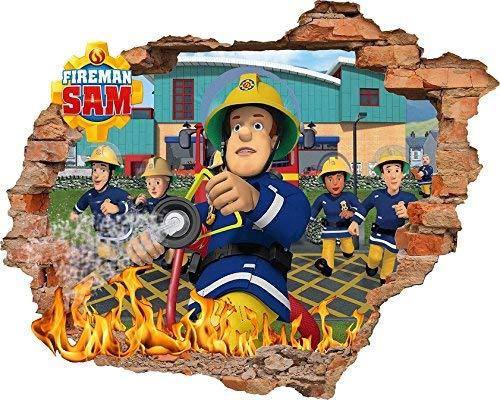Feuerwehrmann Sam Tapete Aufkleber 56?cm x 62?cm Kids Schlafzimmer Jungen M?dchen Art Wand Wandbild Tapete Gr??e L