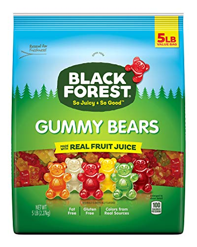 Black Forest Gummy Bears Candy, 5 Pound Bulk Bag