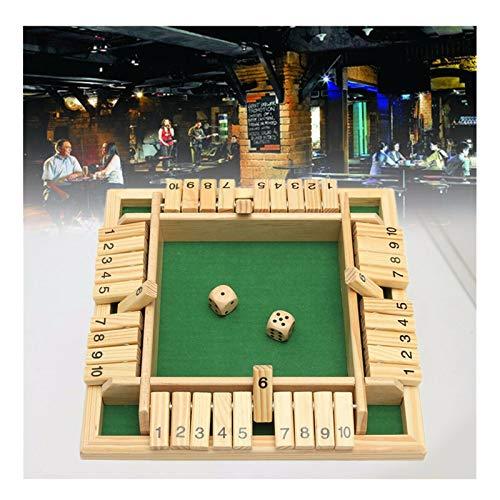 Zahlenspiele, ein lustiges Brettspiel für vier Spieler, ein Würfelspiel, ein ideales Spielzeugspiel für das Treffen von Familie und Freunden (Grün)
