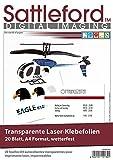 Sattleford Decalfolien: 20 Klebefolien A4 für Laserdrucker transparent (Klebefolie bedrucken Laserdrucker)