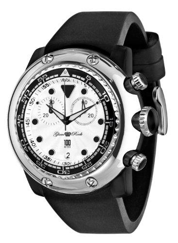 Glam Rock Reloj de Silicona para Mujer GR20119 Miami Beach cronógrafo Esfera Blanca