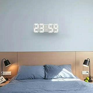 ساعة حائط رقمية ثلاثية الابعاد بمصابيح ليد، للاستخدام كمنبه وضوء ليلي للمنزل في غرفة المعيشة والمكتب - 2725202896715