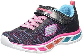 Skechers Kids Girls' Litebeams-Colorburst Sneaker, Black/Multi, 11 M US Little Kid