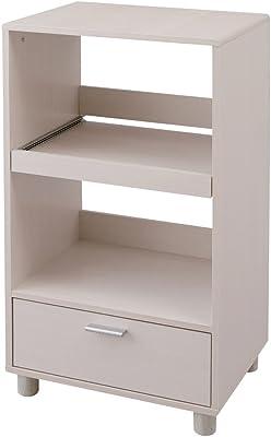 アイリスオーヤマ キッチンボード レンジ台 スライド棚 幅50×奥行37×高さ93.8cm オフホワイト KBD-500