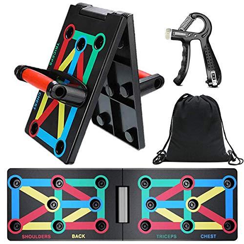 JoyCube Opvouwbaar 9-in-1 Push up Board,Opdrukbeugels voor Spiertraining, Bodybuilding en Lichaamsvorming,Home, Gym lichaam Oefening Tools,Effectieve Fitnessapparatuur