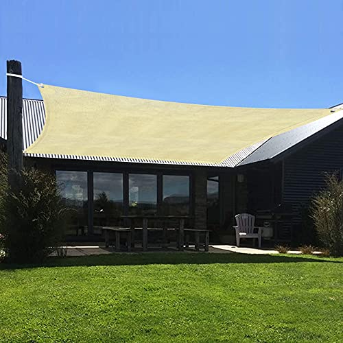 Sonnensegel, UV-Block für Terrasse, Terrasse, Hof, Outdoor-Aktivitäten, Sand, rechteckig, langlebig, aufrollbar, für Outdoor, Terrasse, Garten, Sonnensegel