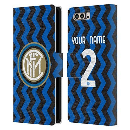 Head Case Designs Personalizzata Personale Inter Milan Home 2020/21 Kit Crest Cover in Pelle a Portafoglio Compatibile con Huawei P10