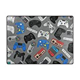 Video Game Controller Gadgets Rugs Area Rugs Reggie Artwork Collection for Living Room, Bedroom, and Dining Room
